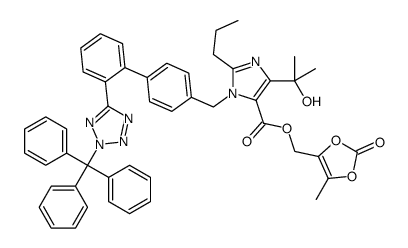 (5-methyl-2-oxo-1,3-dioxol-4-yl)methyl 5-(2-hydroxypropan-2-yl)-2-propyl-3-[[4-[2-(2-trityltetrazol-5-yl)phenyl]phenyl]methyl]imidazole-4-carboxylate