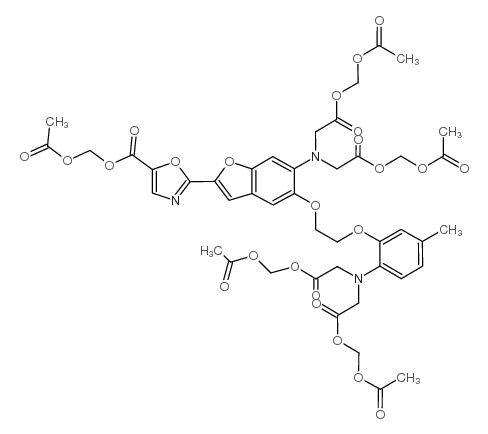 acetyloxymethyl 2-[5-[bis[2-(acetyloxymethoxy)-2-oxoethyl]amino]-4-[2-[2-[bis[2-(acetyloxymethoxy)-2-oxoethyl]amino]-5-methylphenoxy]ethoxy]-1-benzofuran-2-yl]-1,3-oxazole-5-carboxylate